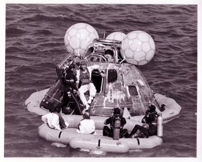 Image result for apollo 17 splashdown